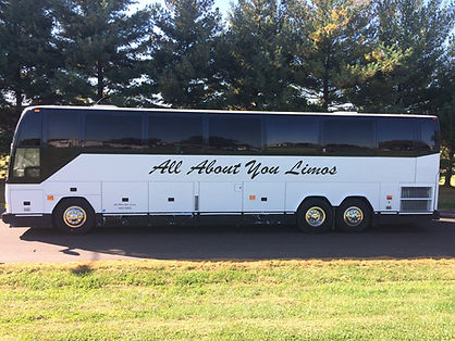 Oasis Limo Bus Exterior - All About You