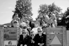 Wedding Party Hayride at Brookdale Farms