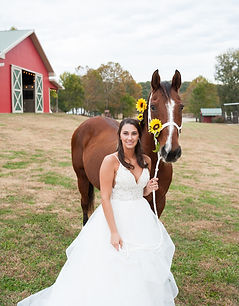 Bride and Horse at Wicked Pony Ranch - Dittmer, MO
