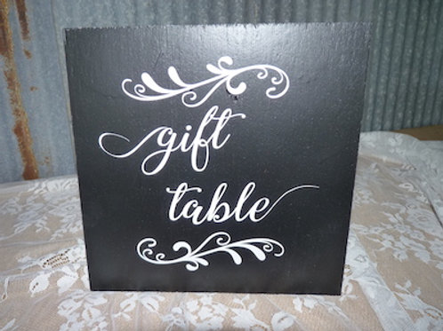 Gift Table Sign - QTY 1