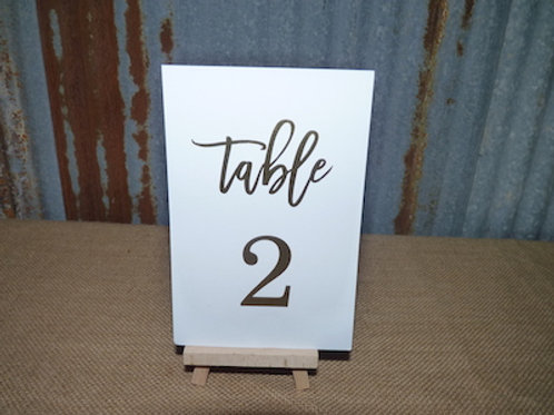 Table Numbers White - QTY 1 Set (1-20)