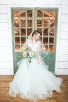 Bride in Hayloft in the Red Barn