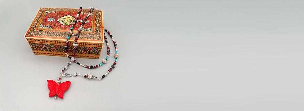 Custom made jewelry with jewelry box by A Wear of Prayer