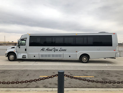 Pegasus Limo Bus Exterior - All About Yo