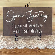 Open Seating Sign