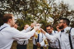 Groomsman toasting during wedding - Broo