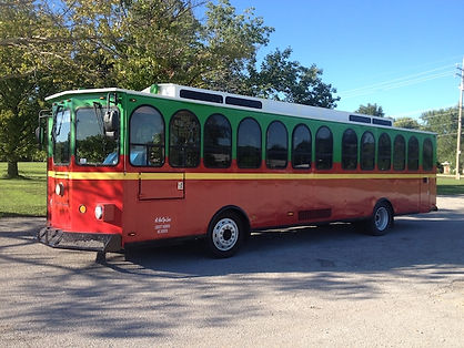 Trolley Limo Bus Exterior - All About Yo