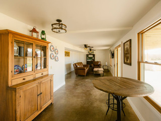 Walkout basement at The Farmhouse at Red Oak Valley