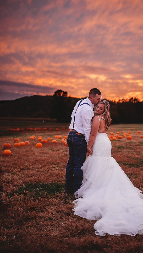 Bride and Groom at Brookdale Farms at Su