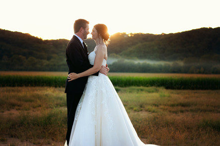 Bride and Groom - Outdoor wedding - Broo