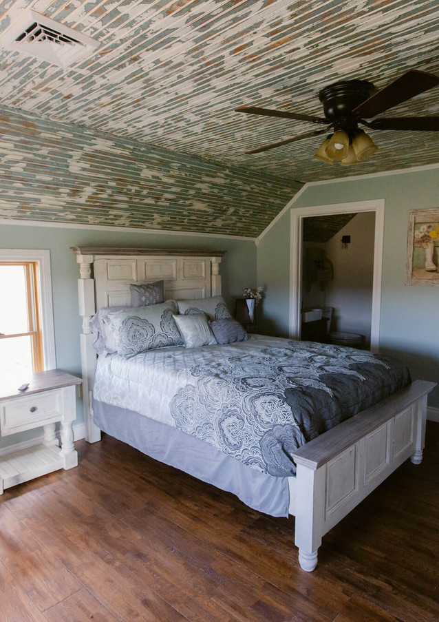 The Farmhouse Upstairs Bedroom with dist