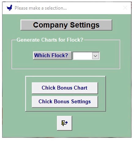 Chick Bonus Menu - Egg Trac Software by Chick Pro