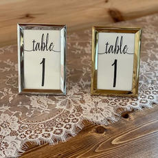 Table Numbers in Silver & Gold