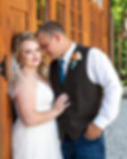 Bride and Groom during Rustic Wedding at Wicked Pony Ranch - Dittmer, MO