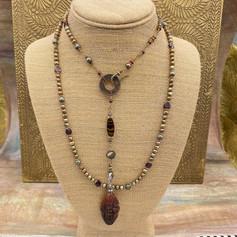 Pearl Golden Jade Necklace After Custom Order