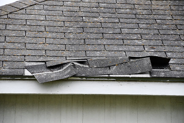 Roof Damage from Hail and Wind - Repair