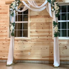 Arbor with Drapery and Florals