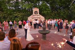Dancing in Courtyard - Outdoor Wedding -