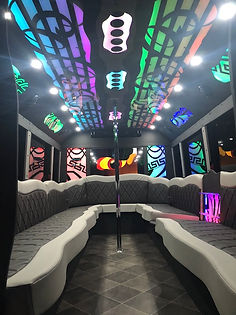 White Knight Limo Bus Interior - All Abo