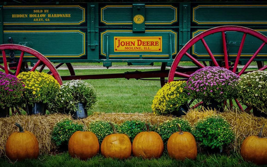 Corn Maze decorations - Brookdale Farms