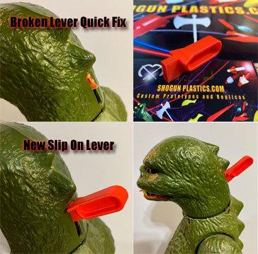 Godzilla Slip On Flame Lever