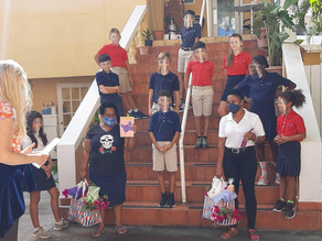 The St. Maarten Montessori UE Students Gives Thanks