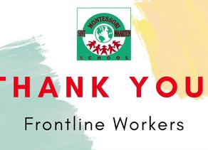 Montessori Students Thank Frontline Workers