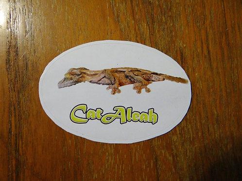 MossyLeafTail Gecko STICKER - Jupiter