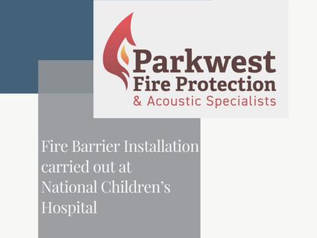 Recent Fire Barrier Installations