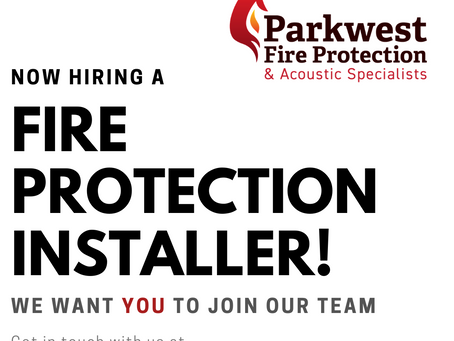 Now Hiring a Fire Protection Installer!