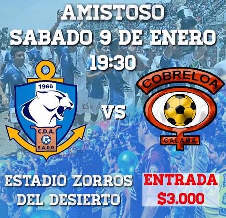 Copiapo y Cobreloa serian los amistosos de este Miercoles 6 y sabado 9