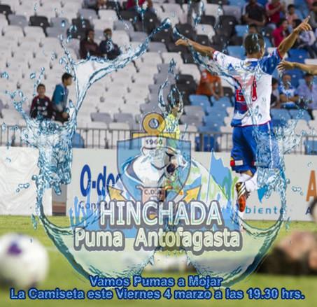 Apoyemos a nuestros 18 guerreros Pumas  en el partido contra La Calera