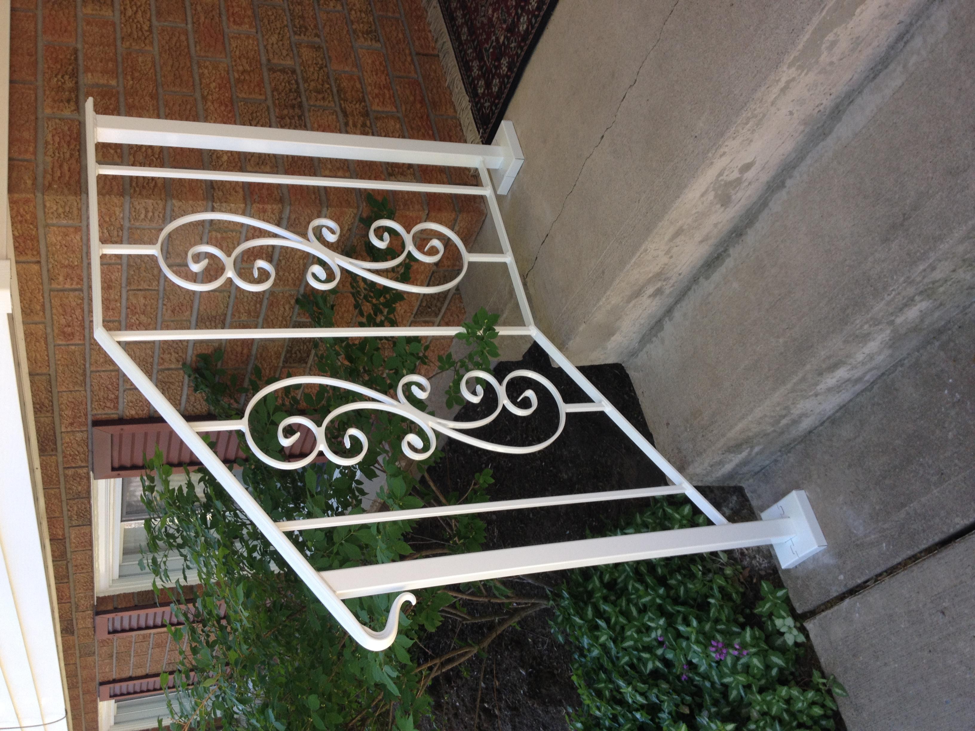 White Exterior Handrail