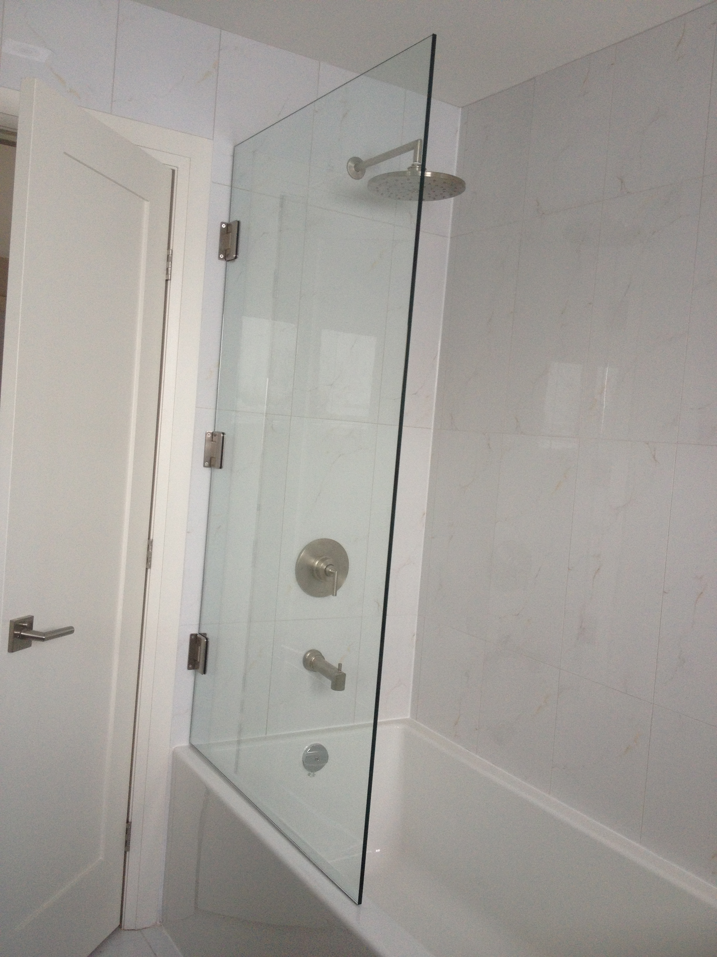 Bath and Shower Combo Glass Wall