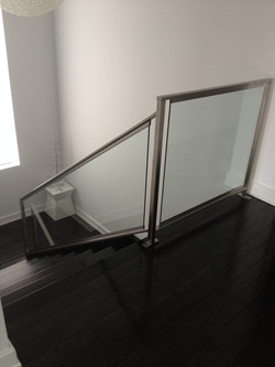 Interior Stainless and Glass Railing
