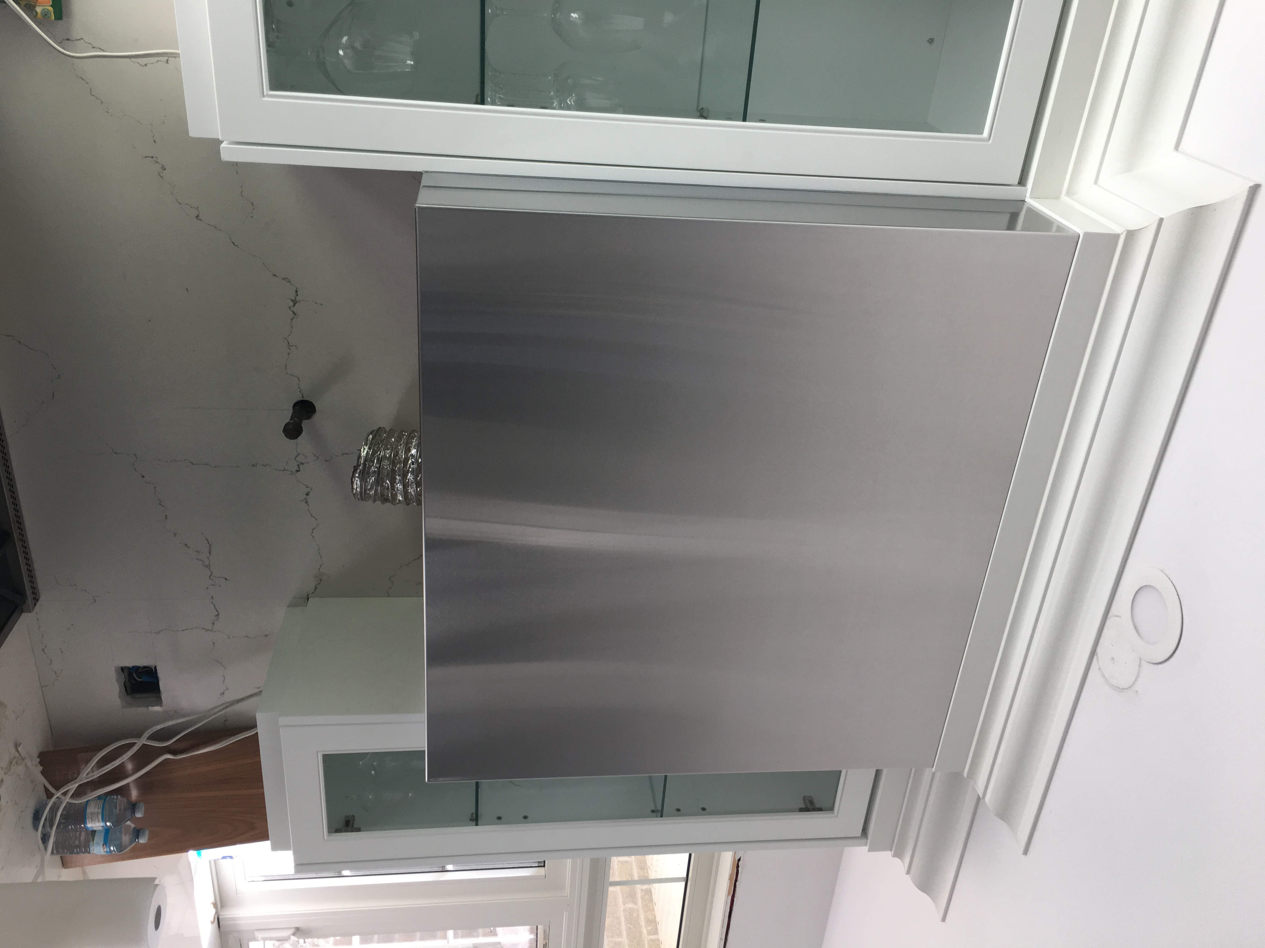 Simple Stainless Hood Fan