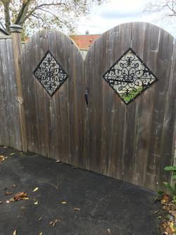 Custom Metal Fence Decor