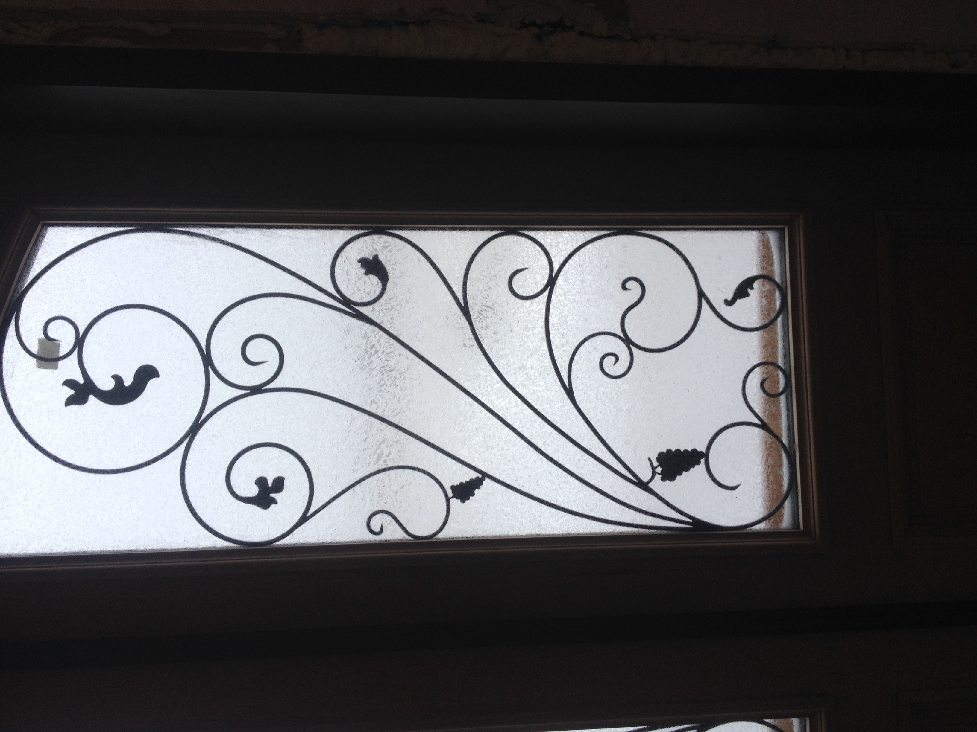 Custom Grape Vine Door Iron
