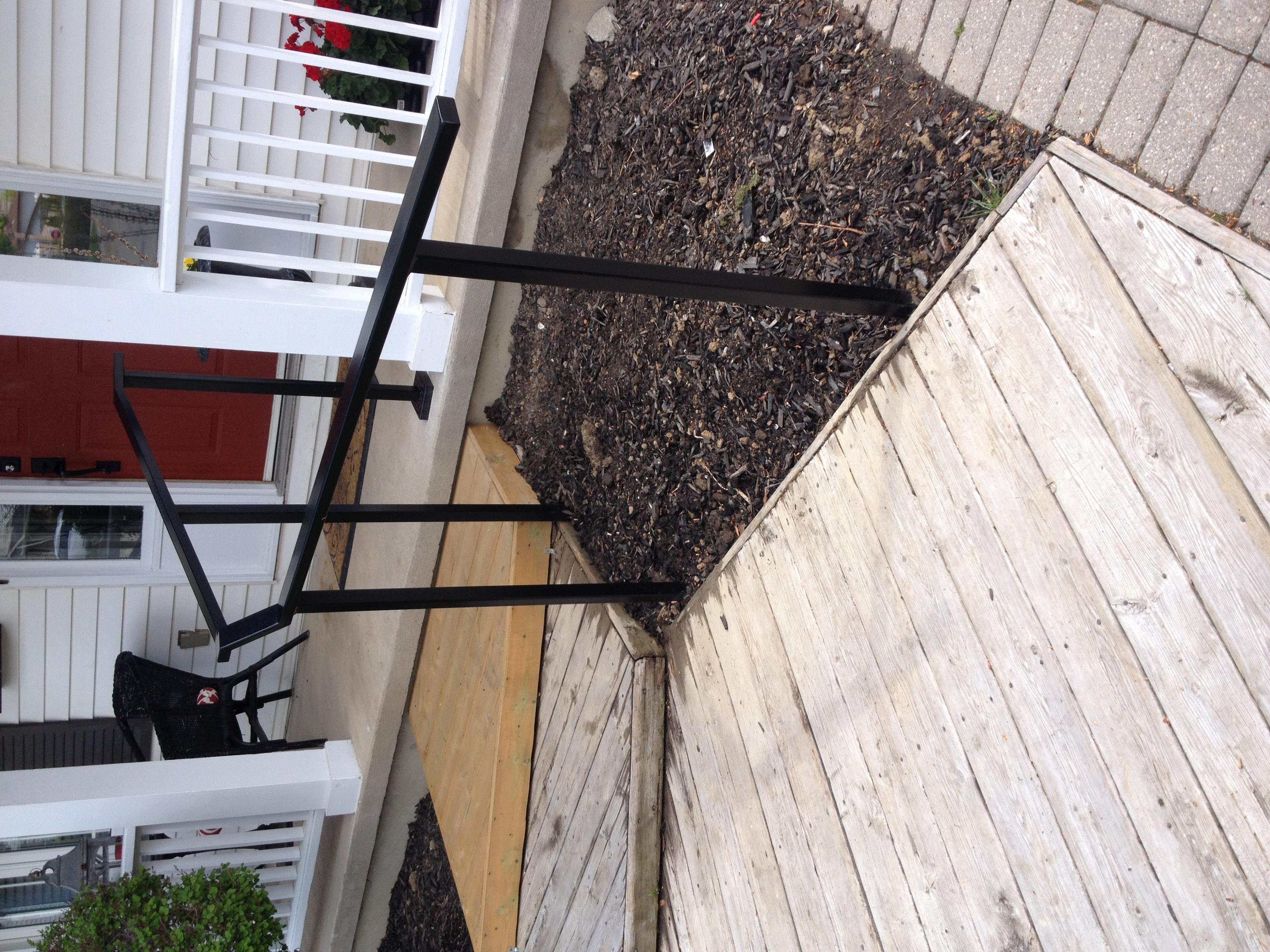 Exterior Black Handrail