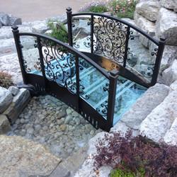 Decorative Iron and Glass Bridge