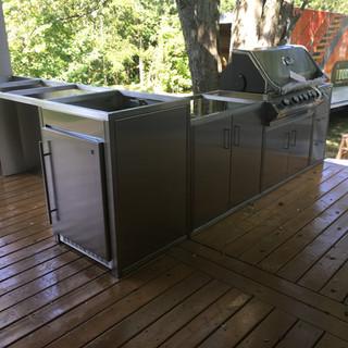 Custom Outdoor Stainless Kitchen