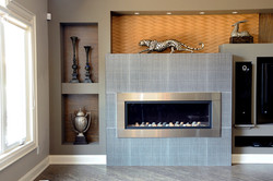 Stainless Fireplace Surround