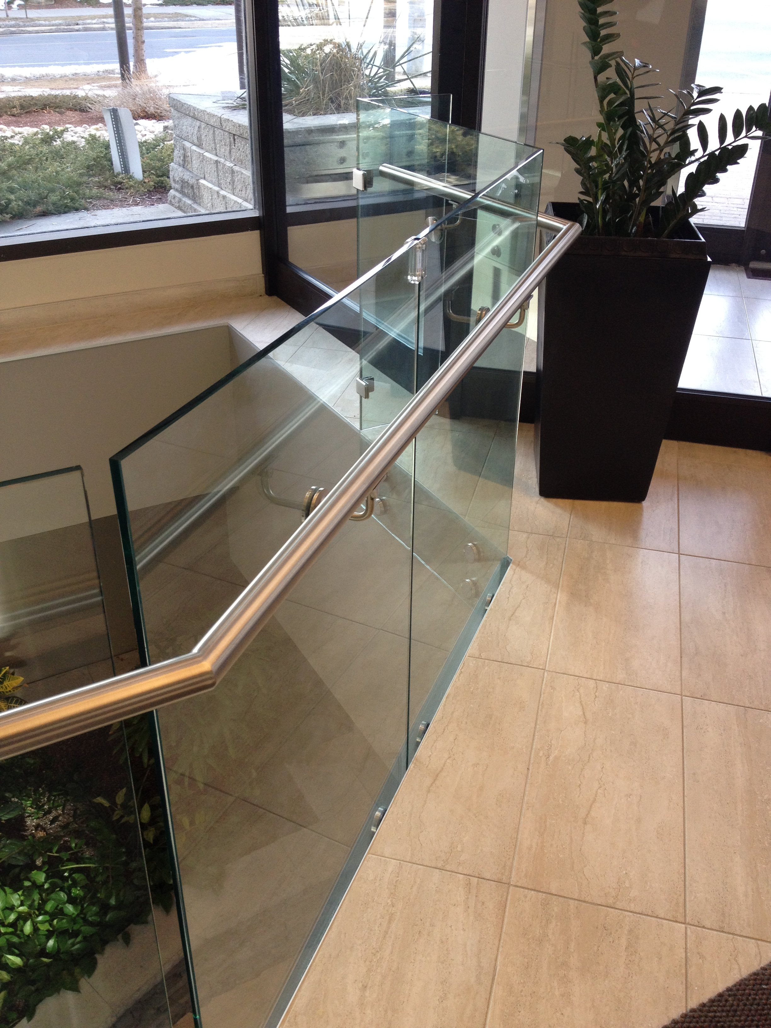 Stainless Hand Rail & Glass Railing