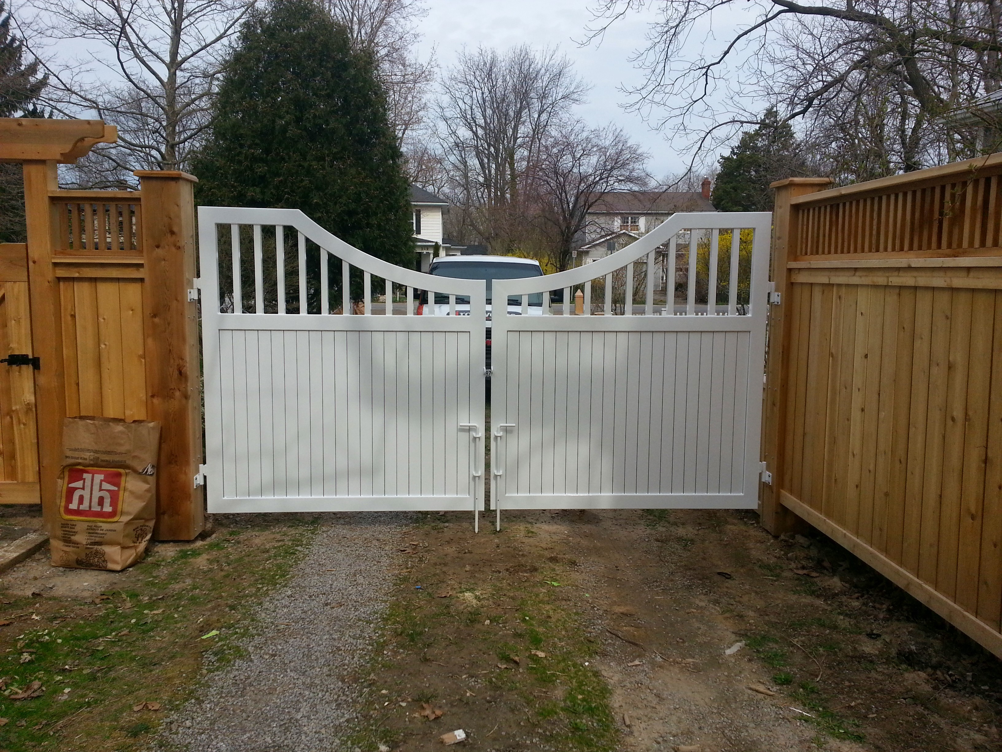 White Custom Gate