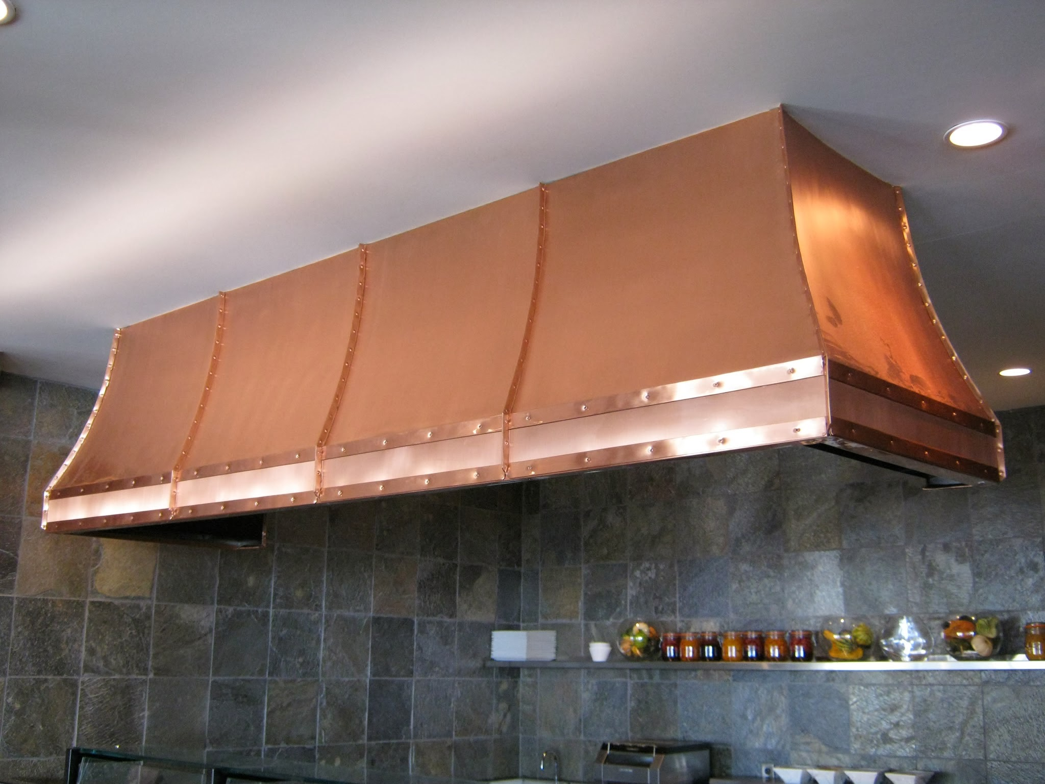 Copper Finished Hood Fan