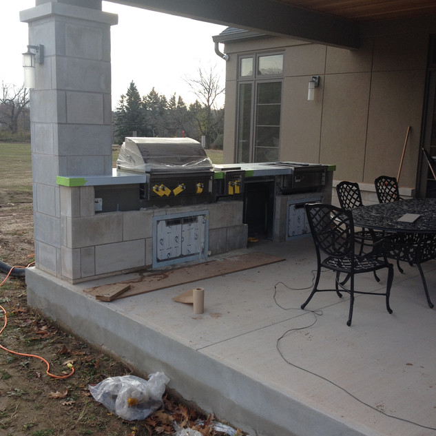 Custom Outdoor Stainless BBQ Centre