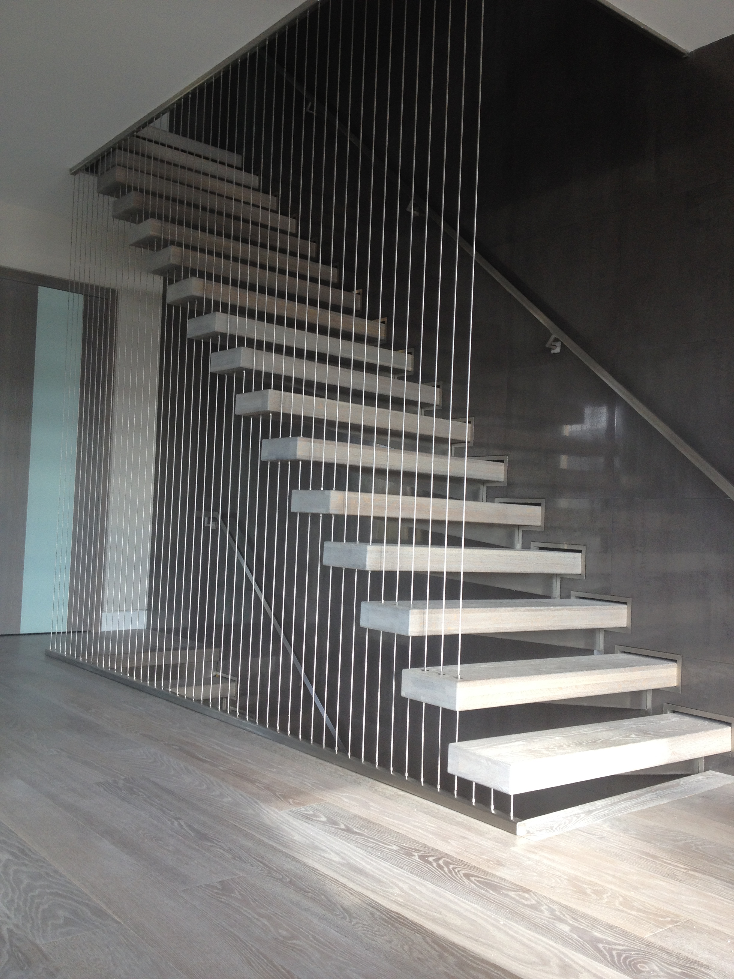 Interior Stairs & Stainless Handrail