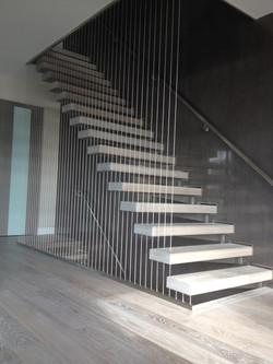Interior Stairs & Stainless Handrail
