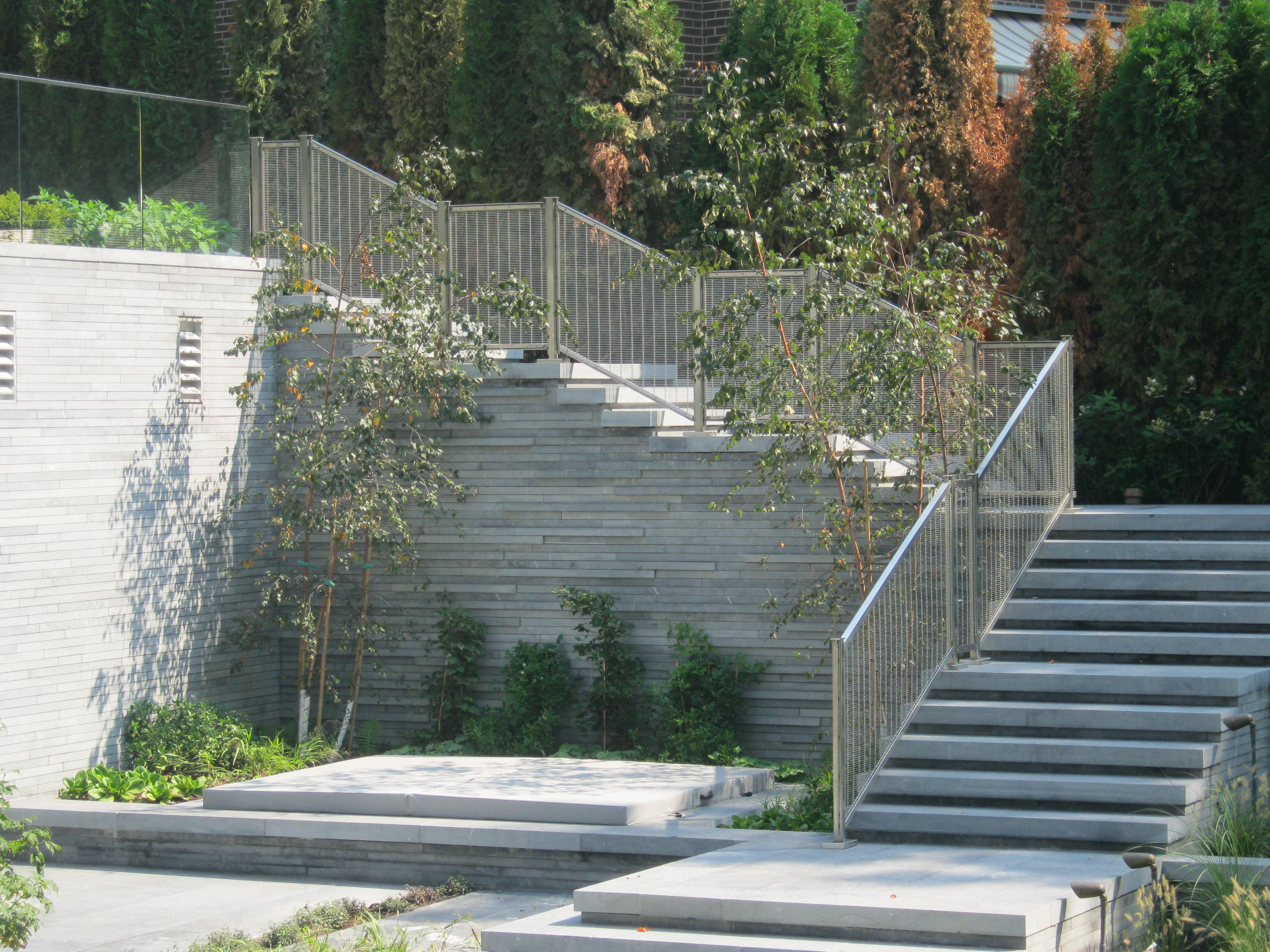 Exterior Stainless Mesh Railing