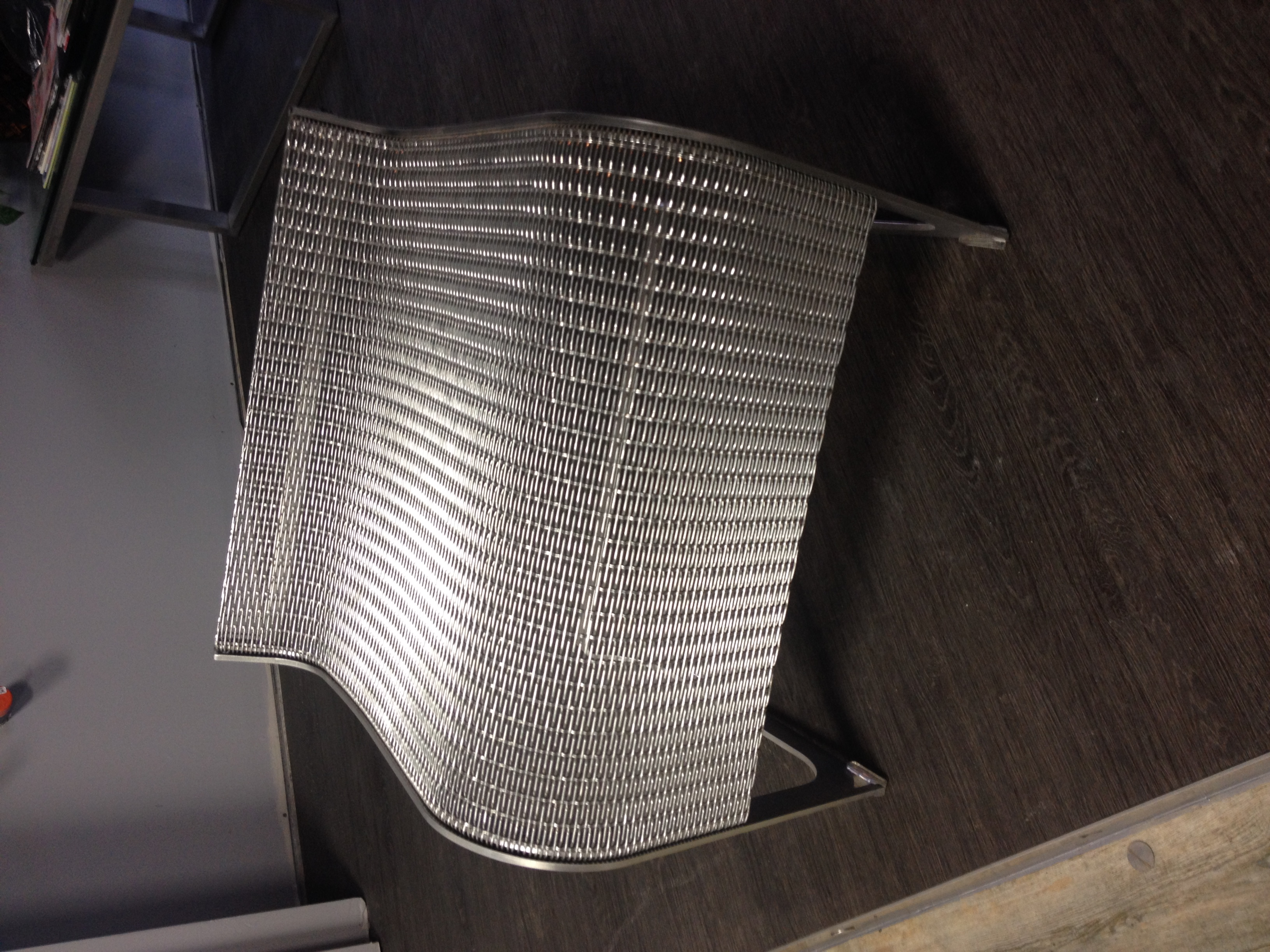 Stainless Mesh Sitting Stool